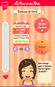 appli le secret du poids